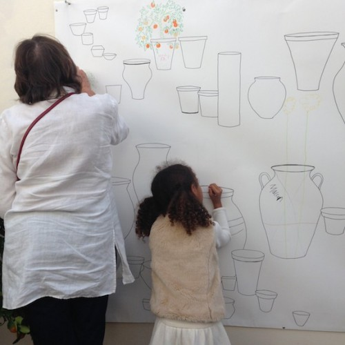 The Big Draw collaborative event held at Clifton Nurseries, London