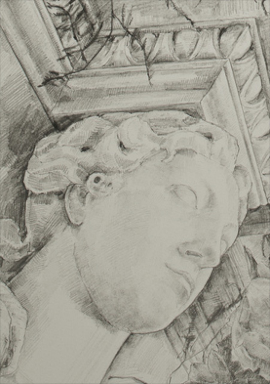 Detail: Adam Fireplace 2, graphite, 76x57cm