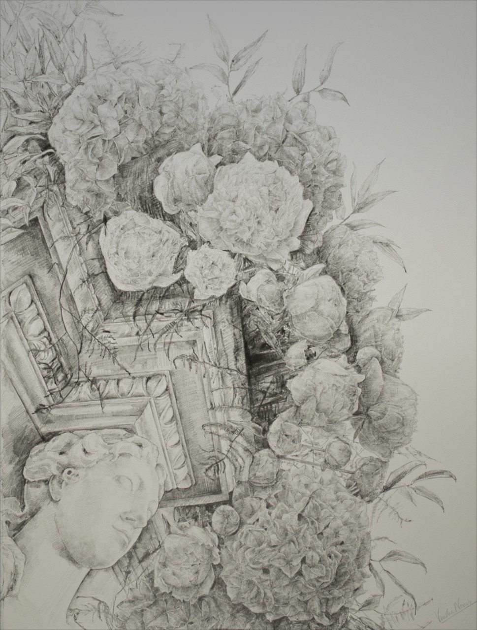 Adam Fireplace 2, graphite, 76x57cm