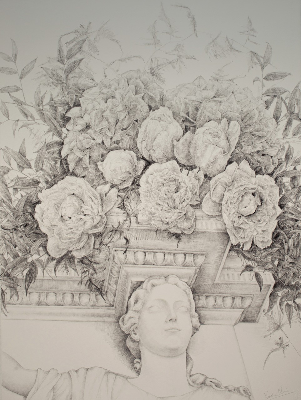 Adam Fireplace 1, graphite, 76x57cm