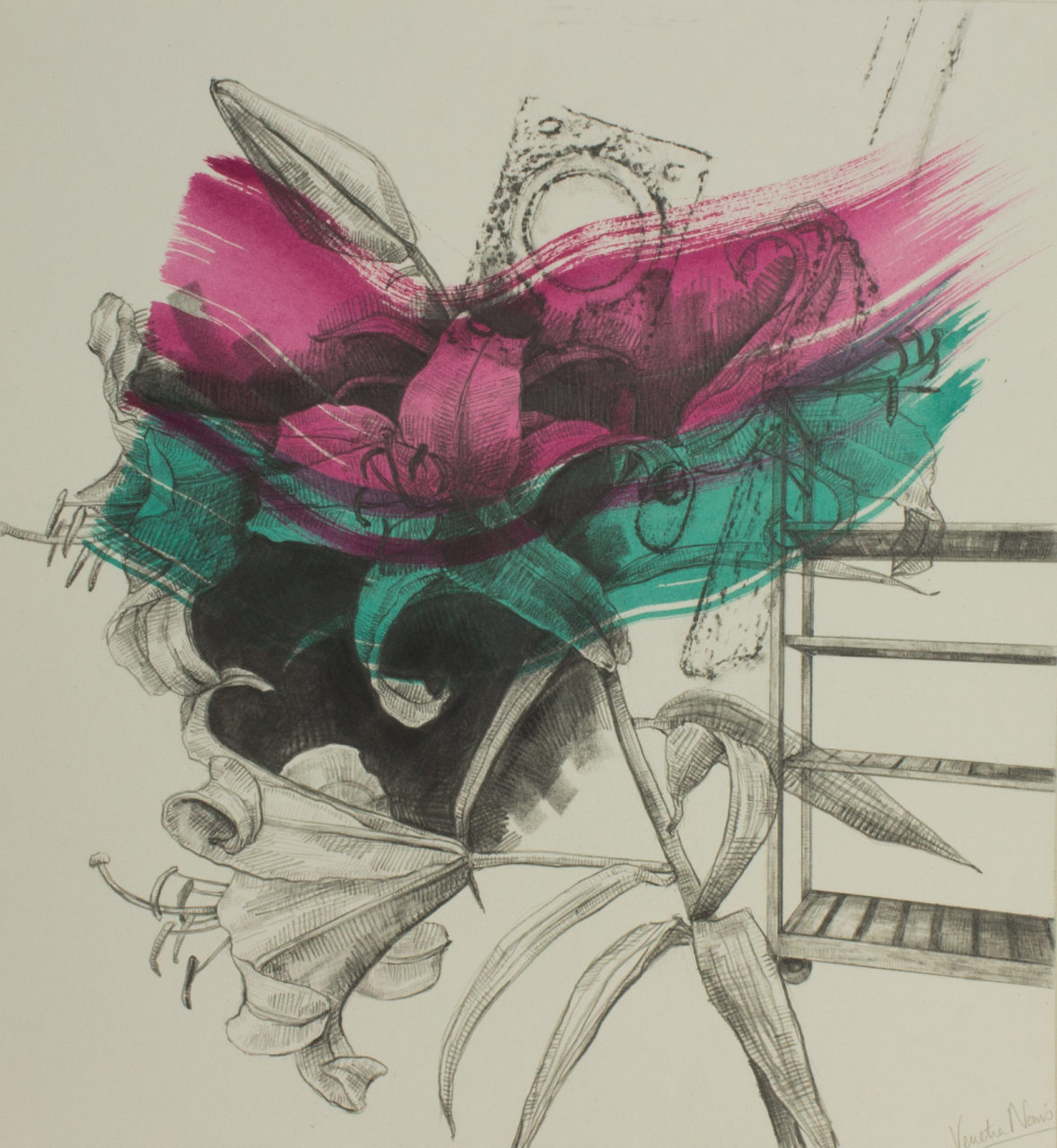 Rainbows of choice, graphite and paint on board, 38.2 x 35.4 cm, £725