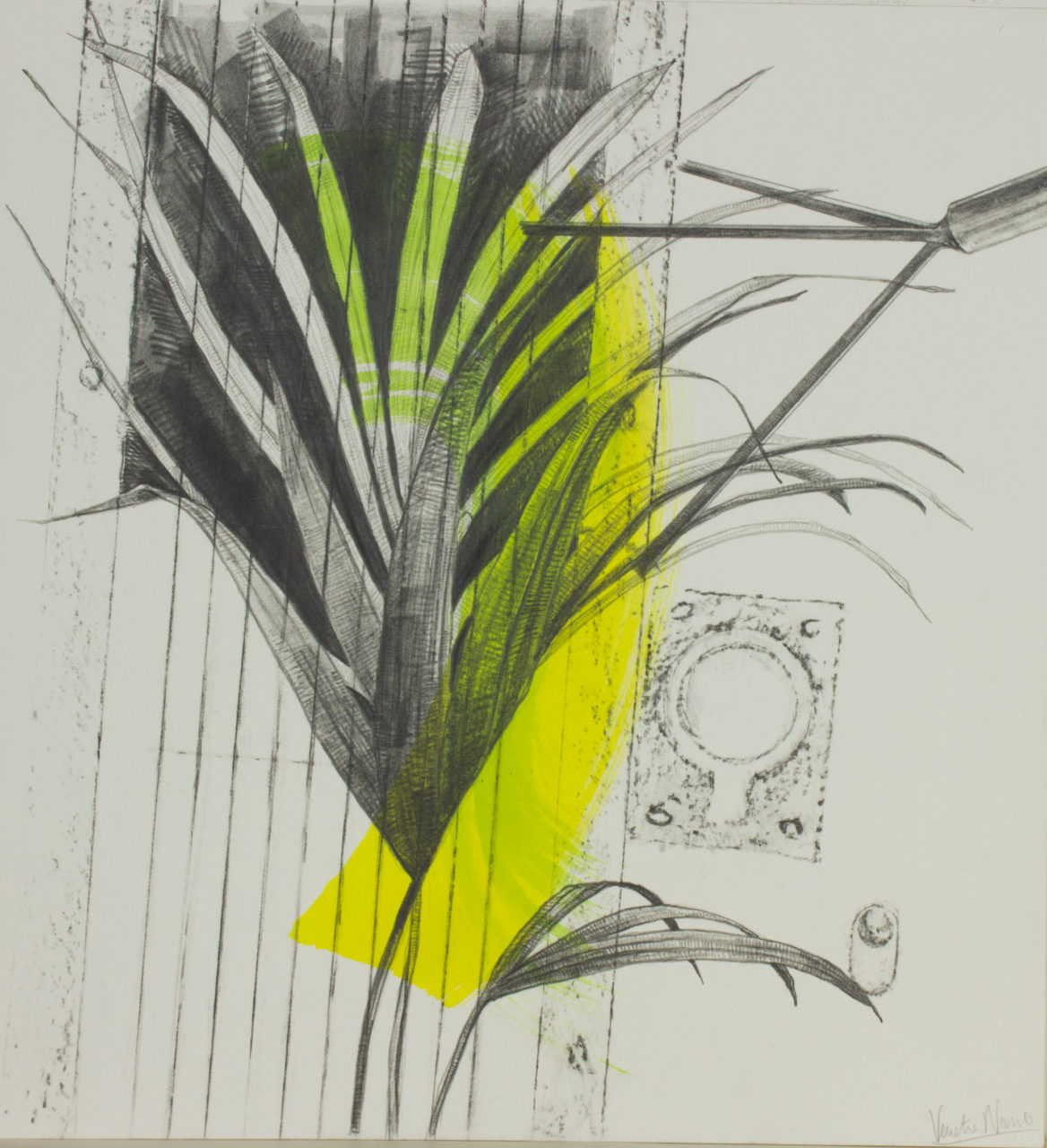 Sounds of dawn, graphite and paint on board, 38.2 x 35.4 cm, £725