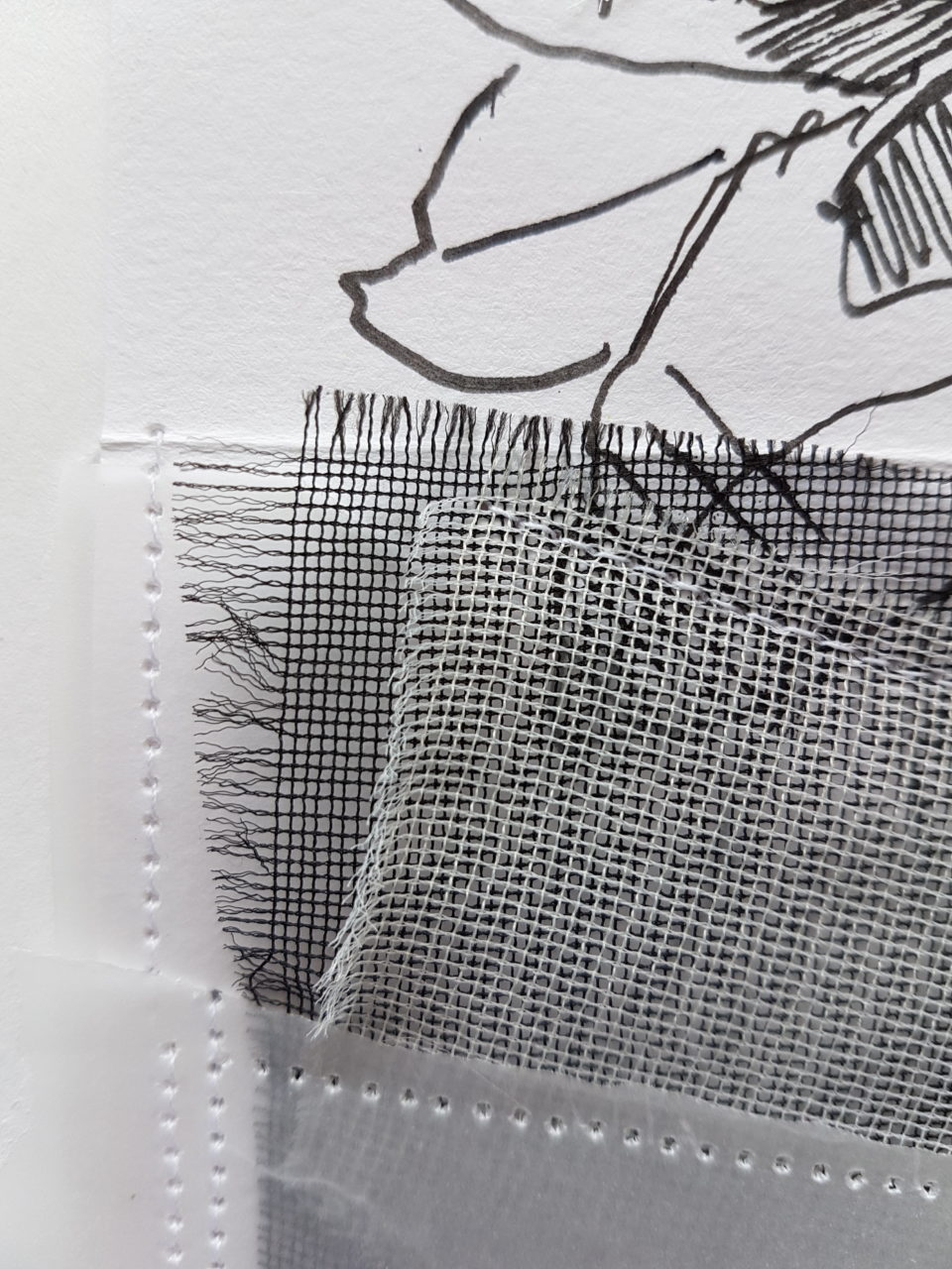 Detail: Screen, mixed media, 28.5x20.5cm